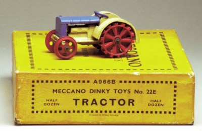 A pre-war Dinky Toys cream and