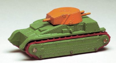 A pre-war Dinky Toys green and