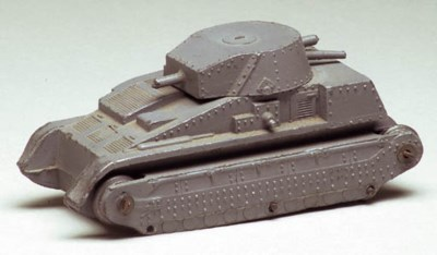 A pre-war Dinky Toys grey 22f