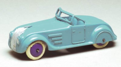A pre-war Dinky turquoise 22g