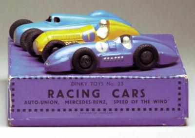 A pre-war Dinky 23 Racing Cars