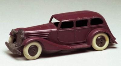 A pre-war Dinky maroon 24b Lim