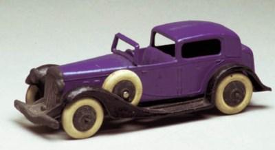 A pre-war Dinky dark blue 24c