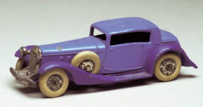 A pre-war Dinky blue and dark