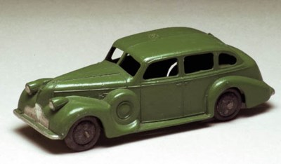A pre-war Dinky green 39d Buic