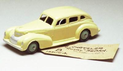 A Dinky cream 39e Chrysler Roy
