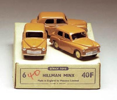 Dinky 40f Hillman Minx Saloons