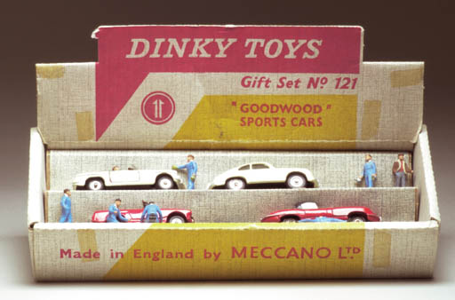 A Dinky Toys 121 Goodwood Sports Cars Set
