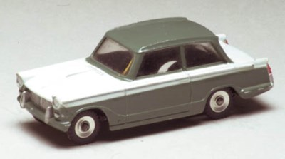 A Dinky grey-green and white 1