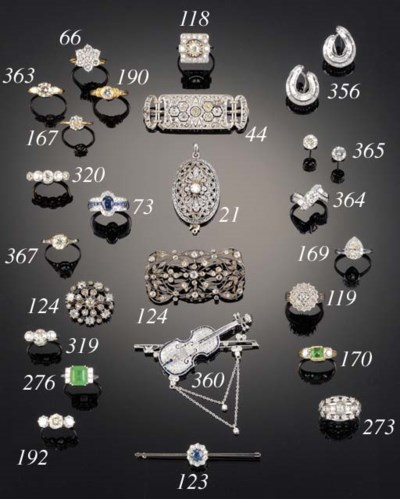 A diamond and sapphire novelty