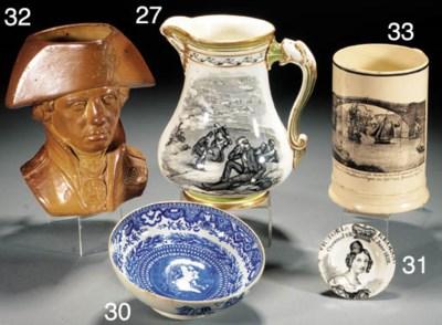 An English pearlware commemora