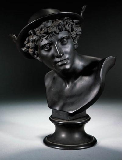 A Wedgwood black basalt bust o