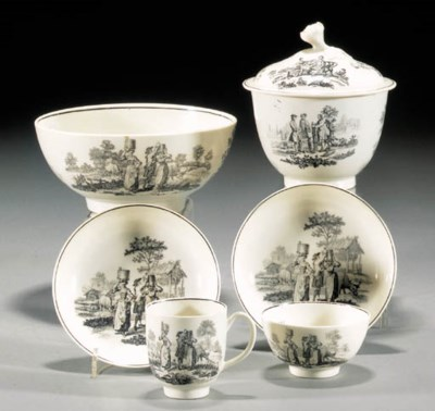 A Worcester sugar bowl and cov