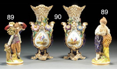 A pair of Derby figures of chi