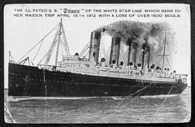 S.S. TITANIC: A POSTCARD SENT
