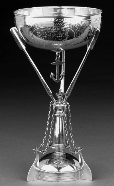 19TH CENTURY SILVER YACHTING T