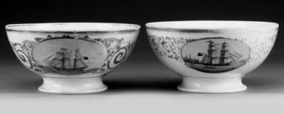 TWO ELSINOR BOWLS, CIRCA 1860