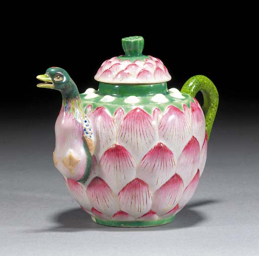 A famille rose teapot and cover Qianlong
