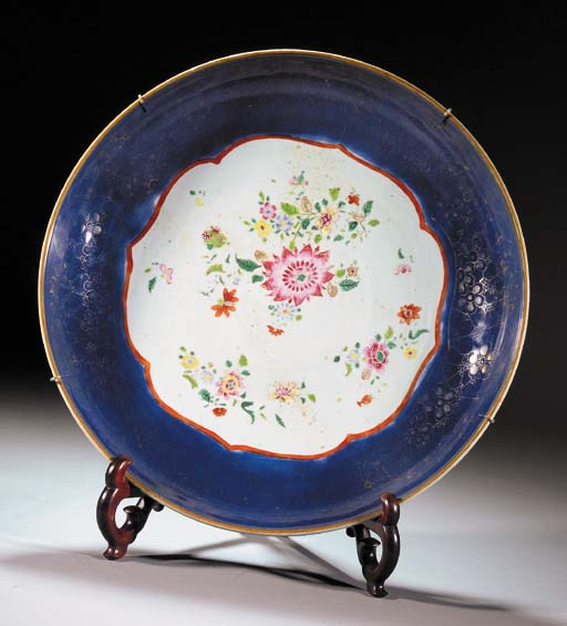 A famille rose charger Qianlong