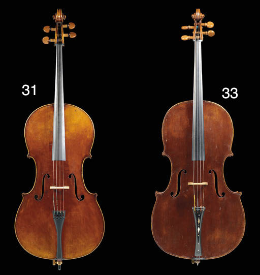 An English violoncello by Benjamin Banks, the label illegible, the two-piece back of irregular curl, the varnish of a red brown colour, the length of back 29in (736mm), with 19th century wood case and a copy of  Benjamin Banks by Albert W. Cooper, 1989 	 (4)