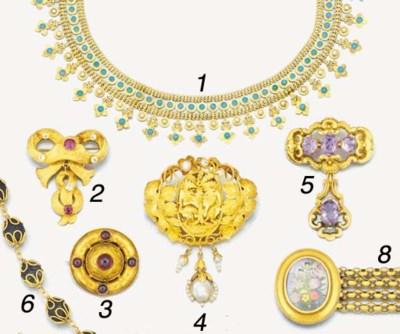 A Victorian gold, garnet and g