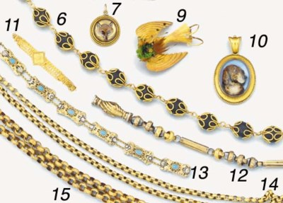 A 19th century gold novelty br