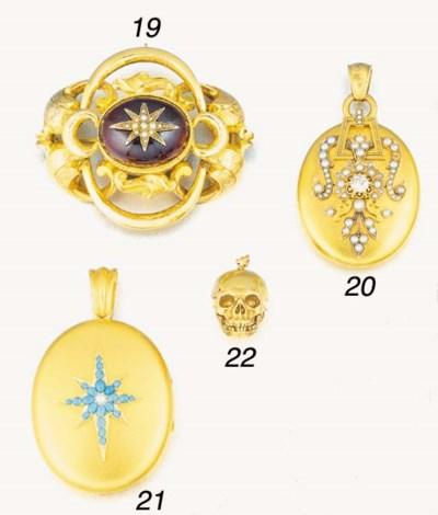 A Victorian gold, garnet and h