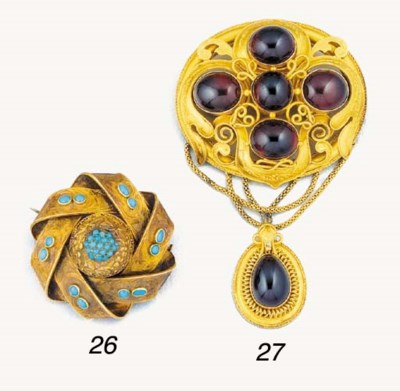A Victorian gold and turquoise