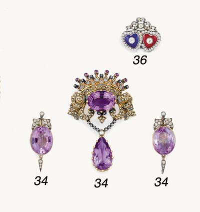 A 19th century amethyst and ge