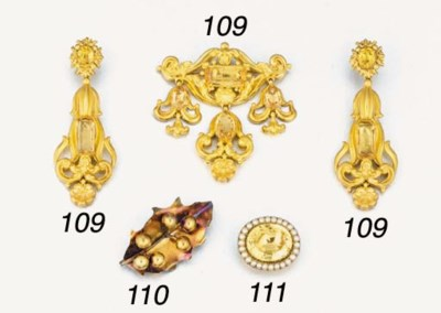 An early 19th century gold, fo