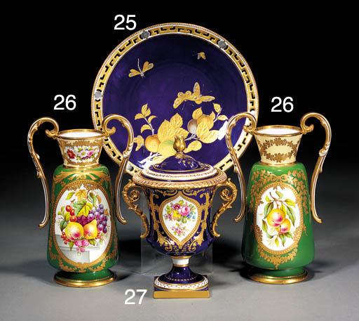 A Royal Crown Derby dark-blue-