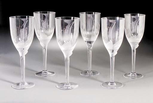 A set of Post-War glasses