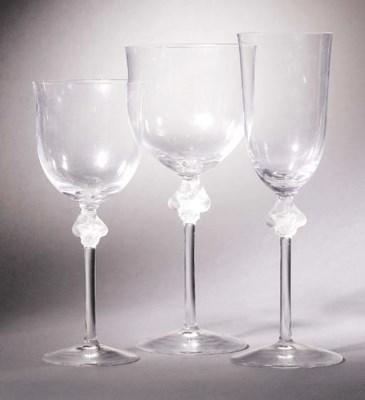 THREE POST-WAR GLASSES