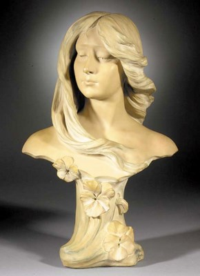 A pottery bust