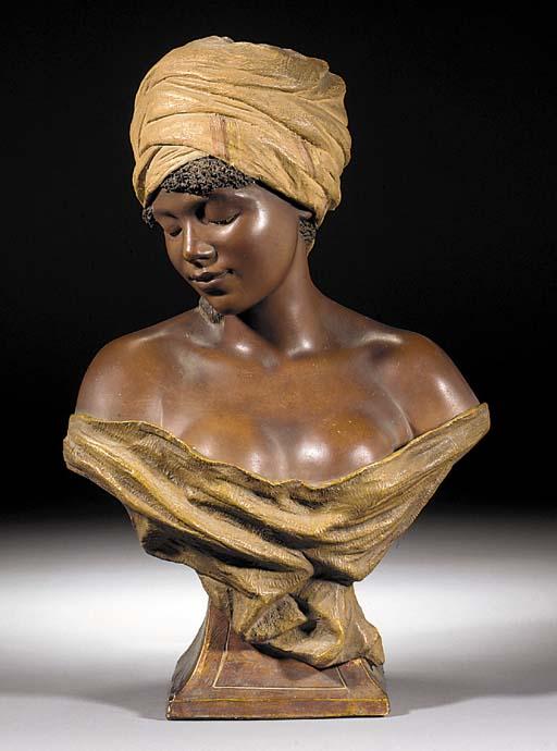 A Goldscheider pottery bust