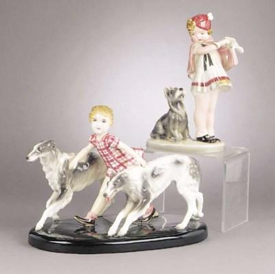 A Goldscheider ceramic figural
