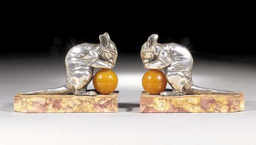 A pair of A pair of silvered m