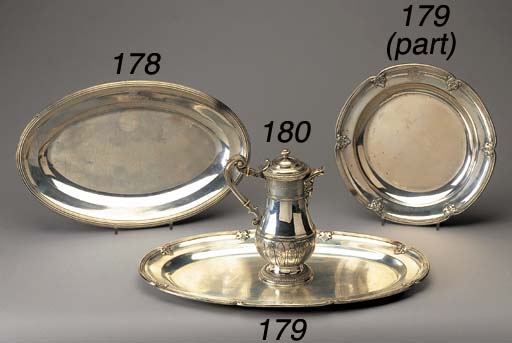 A SUITE OF FOUR BELGIAN SILVER
