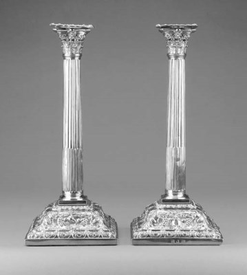 A PAIR OF LARGE GEORGE III SIL