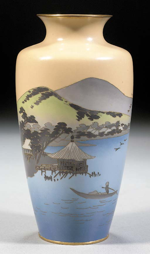 A tapering cloisonne vase 20th