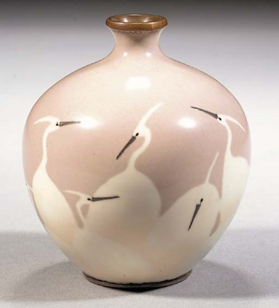 A wireless cloisonne vase Meij