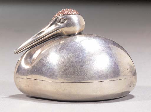A silver kogo in the form of a