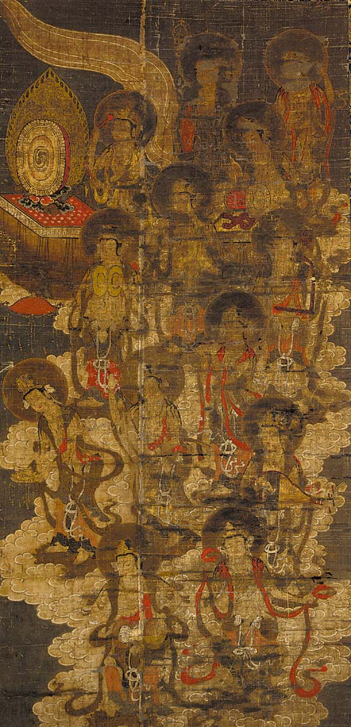 A painting on silk 17th/18th c