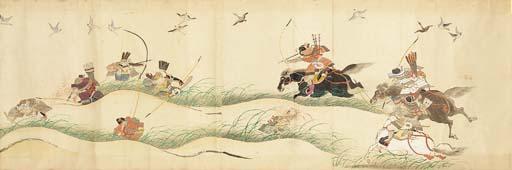 A makemono, watercolour on pap
