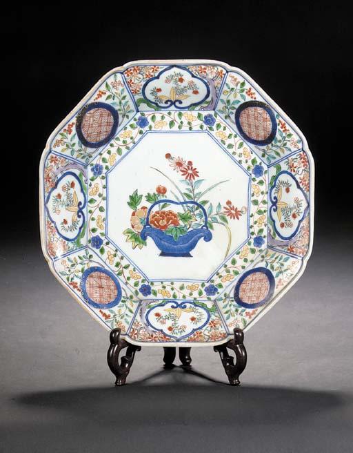An Arita octagonal dish 18th c