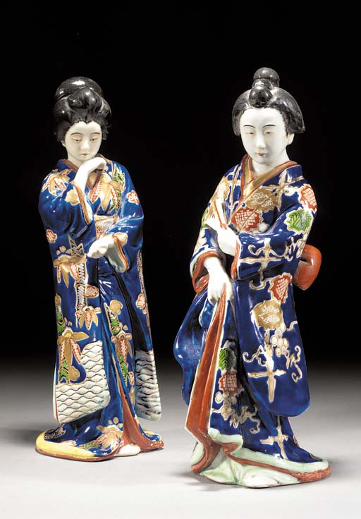 Two Kutani models of standing