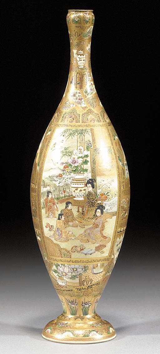 A Satsuma slender tapering vas