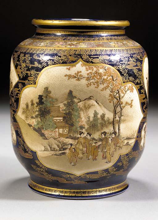 A Satsuma vase 19th Century