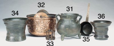 A London leaded bronze mortar,