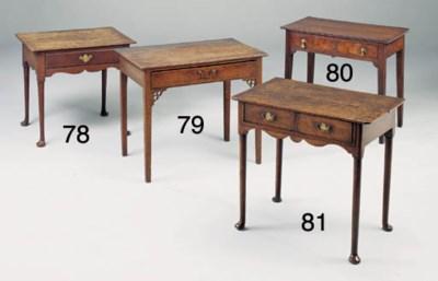 AN OAK SIDE TABLE, PROBABLY WE